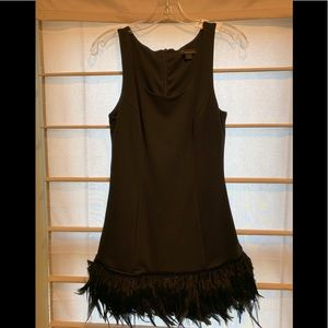 Twenty One knit Dress with Feathers at the botttom